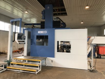 CNC VERTICAL LATHE (with C-axis and Automatic Head Changer ) TOS-HULIN mod. SKA-12
